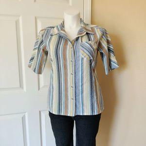 Patagonia Netty striped seersucker button shirt 14